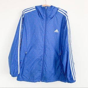 Adidas Blue Windbreaker